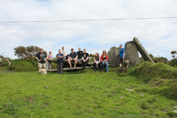 The Rubicon team take some time out at Ardaragh Wedge Tomb on Bere Island