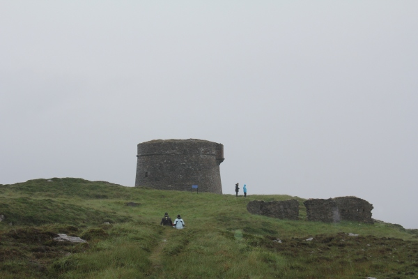 Some of the Rubicon team braving the weather at Cloughland Martello Tower