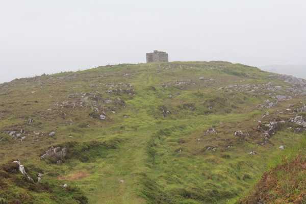 The Cloughland Battery at Bere Island during our June visit. Note the impressive roads constructed to service Cloughland Martello Tower and Battery.