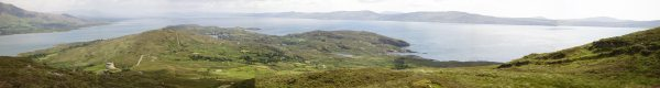 Panorama of Bere Island looking east from Knockanallig- click to enlarge (Brian MacDomhnaill)