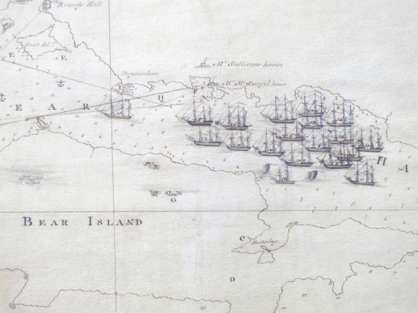 A close up of the Royal Navy fleet off Bere Island, with many past and future veterans of Battles such as the Glorious First of June, the Nile and Trafalgar.